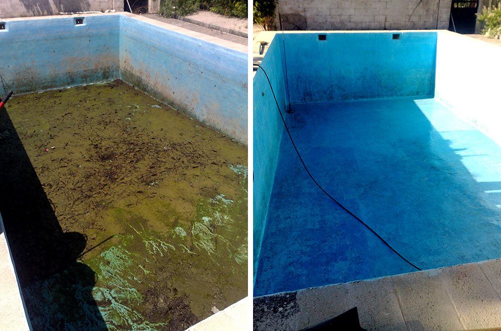 Limpiar piscina muy sucia las piscinas de plstico no slo - Como limpiar el fondo de una piscina ...